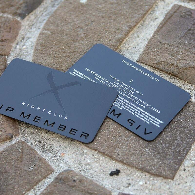 High grade metal business card metal membership card stainless steel ...