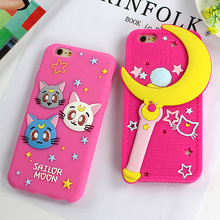 Pink Case with Sailor Moon for iPhone