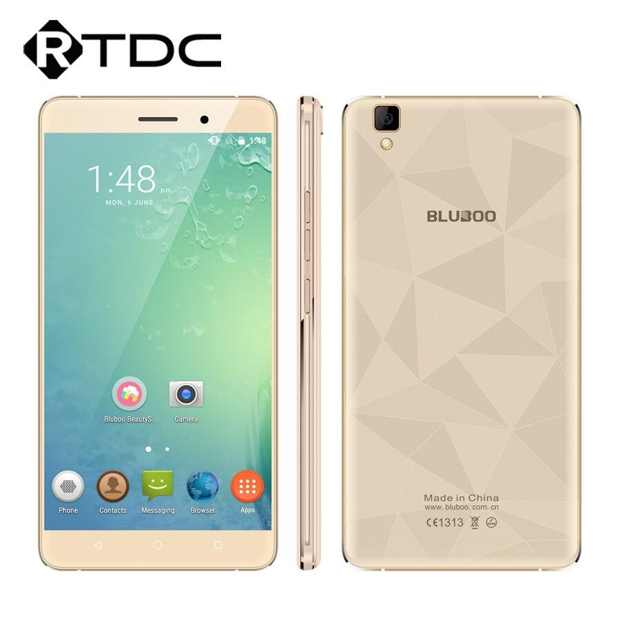 """Цена за Оригинальные bluboo mtk6580a майя 3 г wcdma quad core 1.3 ГГц android 6.0 5.5 """"HD 1280x720 P 2 ГБ RAM 16 ГБ ROM Dual SIM Мобильный телефон"""