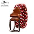 [Dwts] cinturones cummerbunds elástico tejida trenza de la correa de los hombres pantalones pantalones para hombre pantalones vaqueros de la correa de cuero cinturones de banda