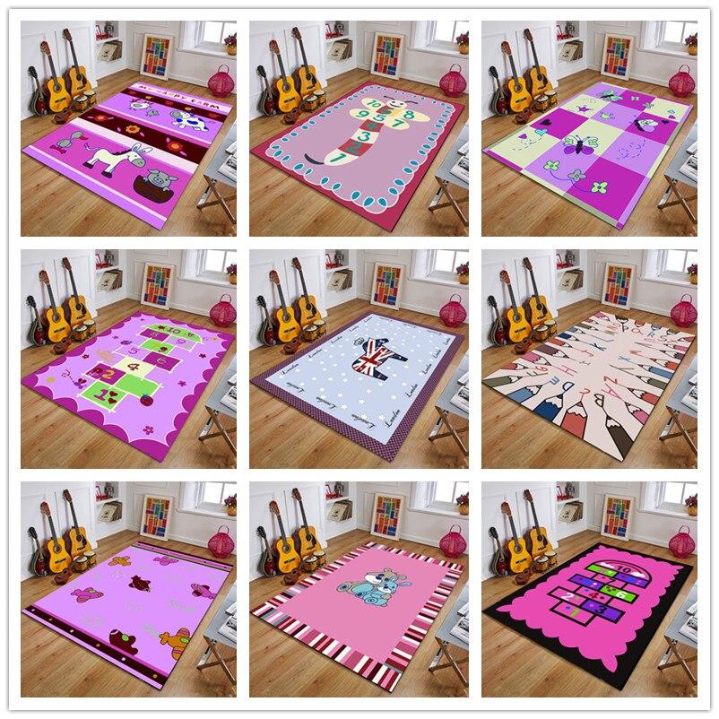 Pink Series Children's Play Carpets Infant Shining 200*300cm Baby Crawl Mat Cartoon Kids Game Carpet Machine Washable Rugs Tapis