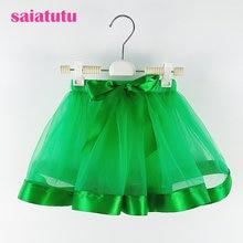 34cedc1681 Verde del bebé tutú faldas princesa pettiskirt ballet danza Tutu falda  niños partido boda minifalda Chlidren