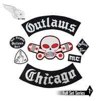 Patch de motard Original hors-la-loi Chicago pardonne le fer brodé sur le cavalier