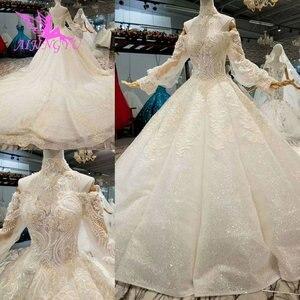 Image 2 - AIJINGYU свадебное платье и роскошные платья дешевые рядом со мной кружева индийские красивые платья свадебное платье принцессы