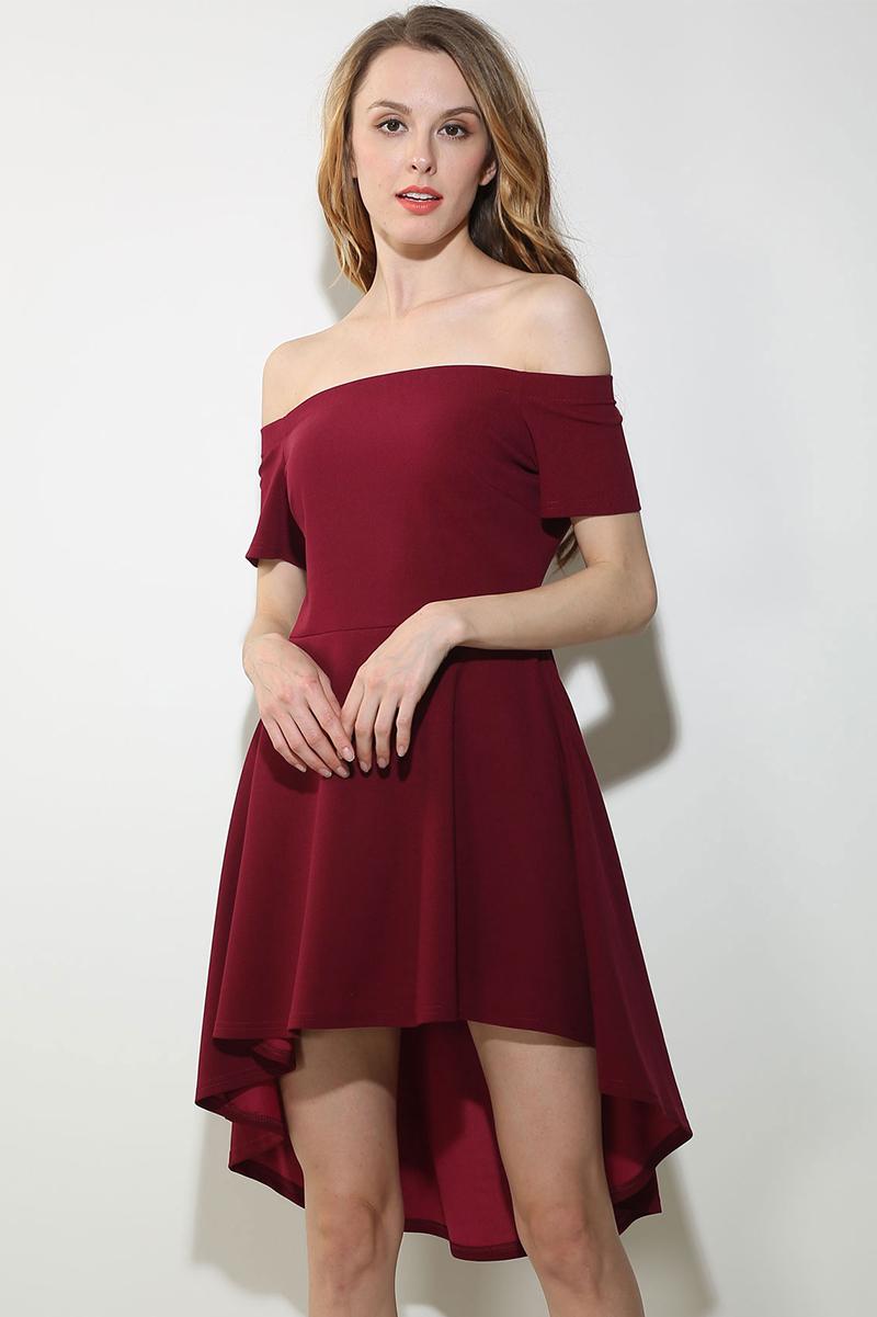 fe9b1c5e55b3 ShejoinSheenjoy Summer Dress 2017 Women Sexy Slash Neck Off Shoulder High  Low Party Dresses Casual Elegant