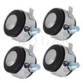 """BQLZR  2"""" Black Soft Roll Rubber Swivel Wheels Caster Furniture Replacement Parts"""
