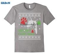 GILDAN Meowy Christmas Ugly Sweater Cute Xmas Party Sweatshirt