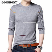 COODRONY Cashmere Wool Sweater Men Brand Clothing 2017 Autumn Winter New Arrival Slim Warm Sweaters O