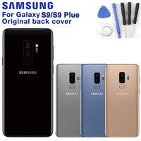 Original samsung voltar capa de bateria para samsung galaxy s9 g9600 g960f s9 + s9 plus g9650 g965f volta caixa de vidro traseiro
