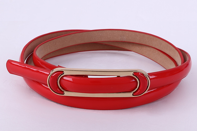 Free Shipping 2018 New Fashionable Womens Red Yellow Green Candy Color Shinny   Belt   For Ladiy Female