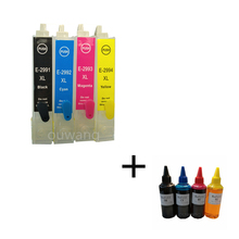 T2991 29 29XL T2994 Refillable ink cartridges for Epson XP342 XP345 XP442 XP445 xp-445xp-345 with auto reset chips+400ml dye