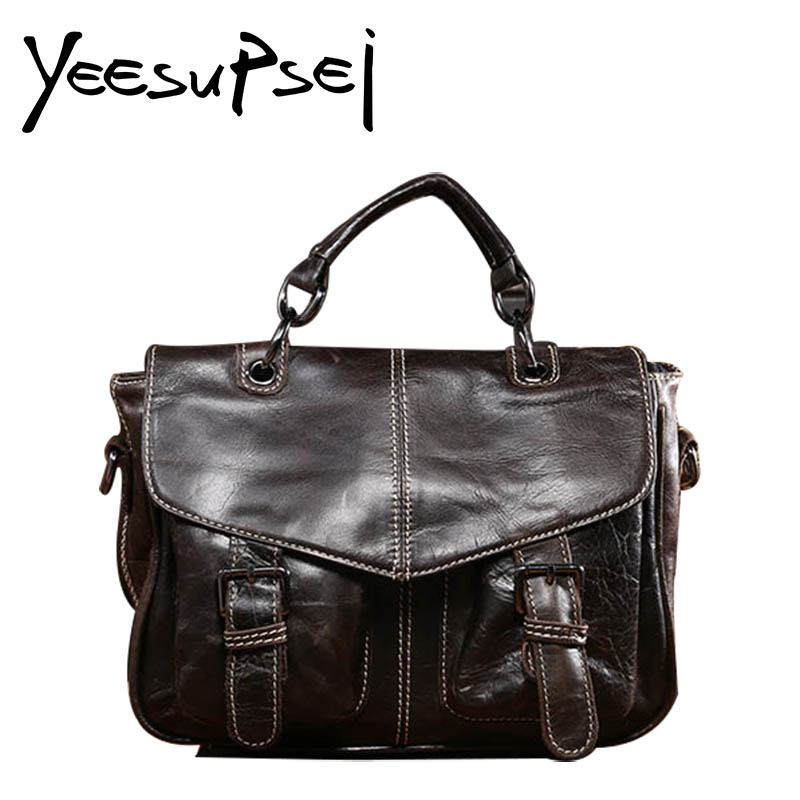 YeeSupSei New Fashion Man Commercial Handle Briefcase Real Leather Vintage Men Messenger bag Casual Natural Cowskin Business BagYeeSupSei New Fashion Man Commercial Handle Briefcase Real Leather Vintage Men Messenger bag Casual Natural Cowskin Business Bag
