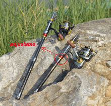Carbon Fiber Telescopic Fishing Rod Portable Spinning Fishing Rod Pole