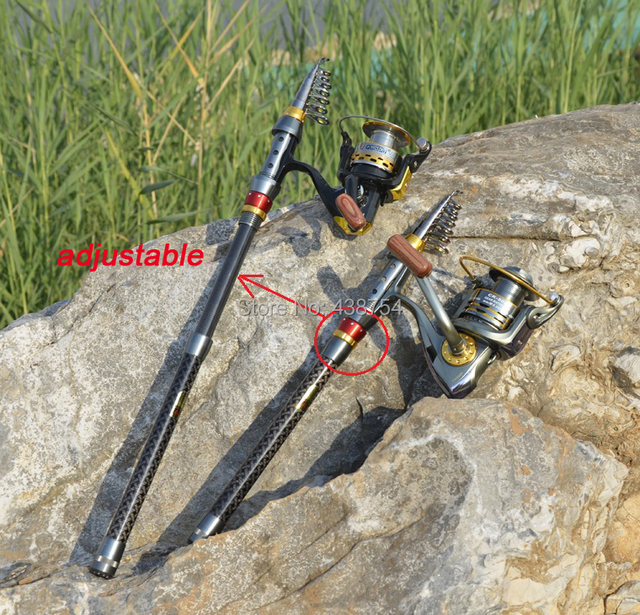 Carbon Fiber Telescopic Fishing Rod Portable Spinning Fishing Rod Pole Travel Sea Boat Rock Fishing Rod 6