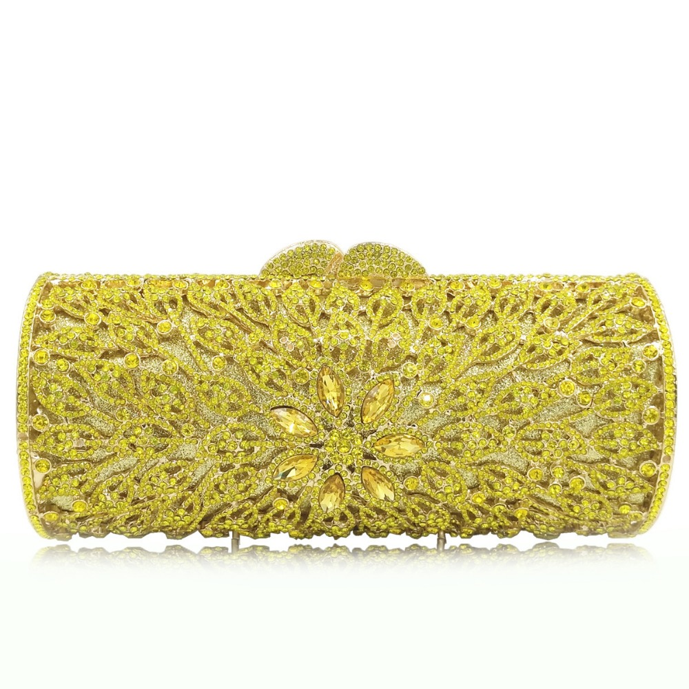 gold/blue/green color Hollow Out Crystal Women Evening Purse Metal Clutches Bag Bridal Wedding Clutch Cocktail Party handbag цена
