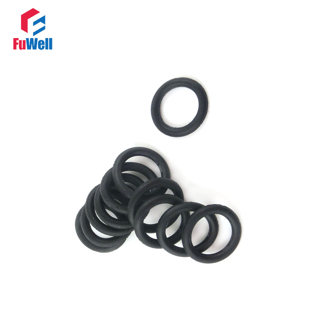 500pcs 2mm Thickness NBR O-ring Seals 5/6/7/8/9/10/11/12/13/14mm OD Nitrile Rubber Oil Resistance O Rings Sealing Gaskets