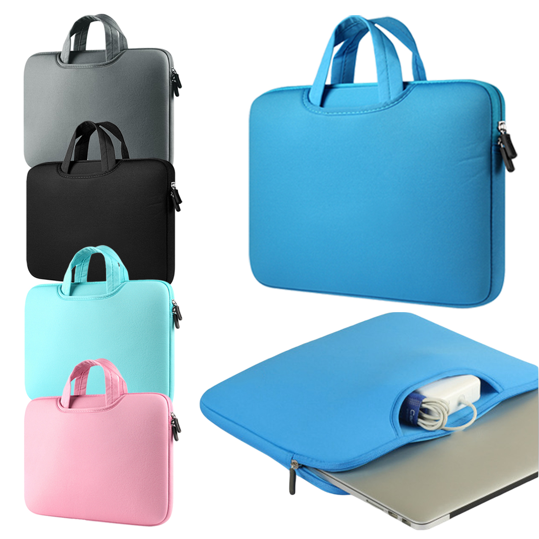 Laptop Bags 11.6 13.3 15.4 15.6 Inch Notebook Bag 13.3 For MacBook Air Pro 13 Case Laptop Bag 11,13,15 Inch Protective Case-in Laptop Bags & Cases from Computer & Office