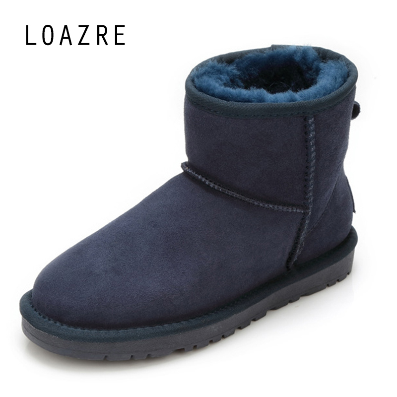 100 Natural Fur Sheepskin font b Women b font Winter Snow Boots Warm Keep TPR Soles