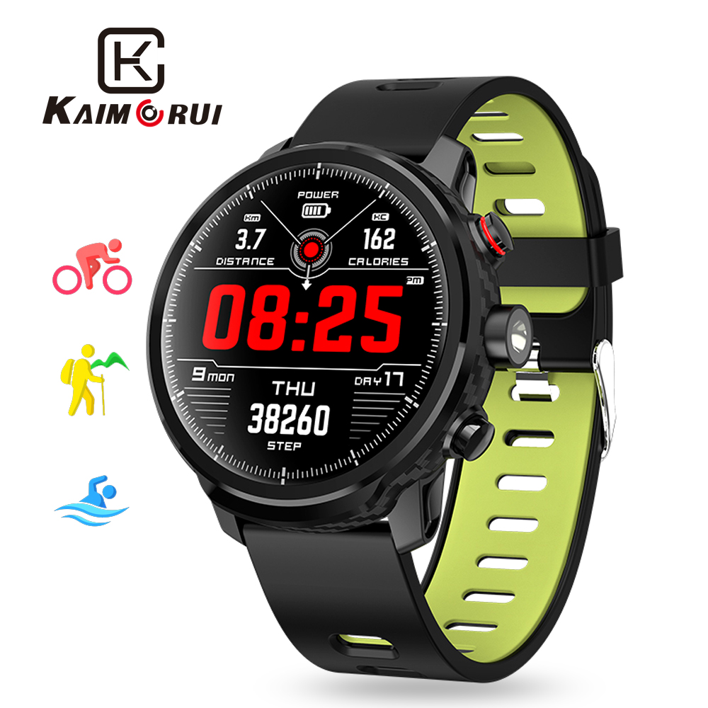 L5 Smart Watch Men Heart Rate Pedometer Monitor Multiple Sports Mode with Weather Forecast Bluetooth Smartwatch