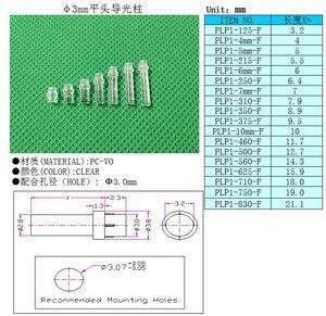 Image 3 - 100 Máy Tính Màu Sắc Rõ Nét 2.54MM 21.1MM Đèn Ống 3MM Led Xi Nhan LED Ống Chụp Đèn Thay Thế PLP1 Phẳng Đầu