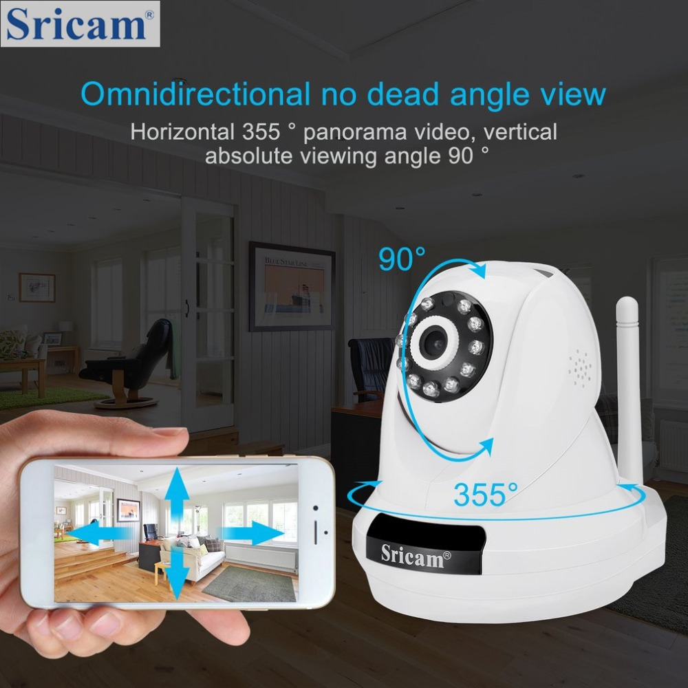 Sricam PTZ IP Camera 1080P HD Wireless Security Camera 2.0MP WiFi Surveillance Home Monitor Motion Detection Night VisionSricam PTZ IP Camera 1080P HD Wireless Security Camera 2.0MP WiFi Surveillance Home Monitor Motion Detection Night Vision