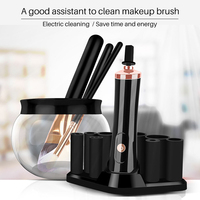 Women Automatic Makeup Brush Cleaner Machine Battery Powered Makeup Brushes Cleaner Tools for Washing Cleaning Brushes Cleanser