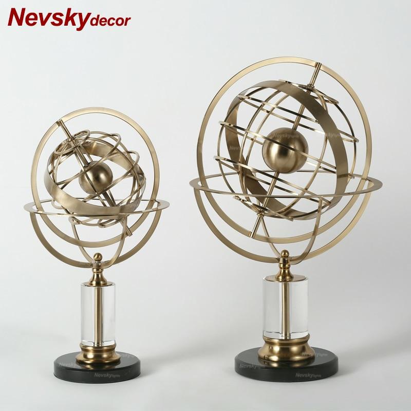 home decoration accessories crystal globe Statue Plaster Model Stones Crafts Ornament Creative Artwork Figurines