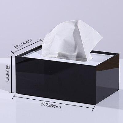 Мраморный узор, акриловая коробка для салфеток, креативный тканевый чехол для ванной комнаты, украшение для гостиной, держатель для бумаги в скандинавском отеле - Цвет: F
