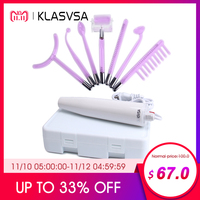 KLASVSA Darsonval High Frequency Wand Chromotherapy Electrode Stick Device Purple Ray Light Health Skin Care Facial Massager