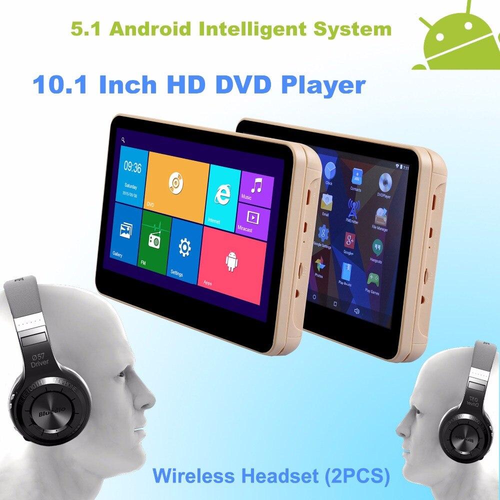 font b Android b font 5 1 Headrest 10 1 Inch Monitor HD Quad Core