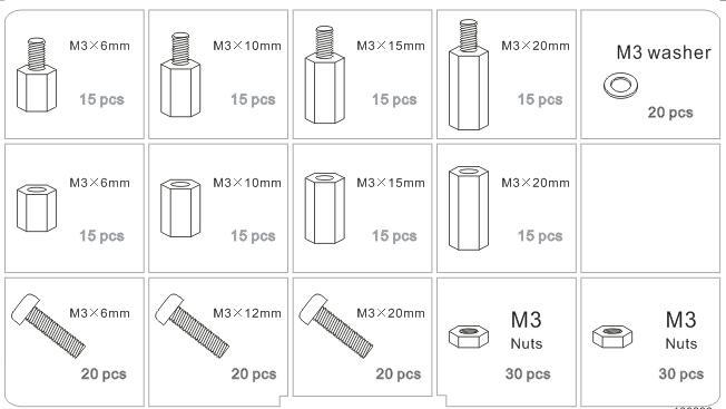 Vite Esagonale dado assortimento 140pcs m2 distanziali in nylon CONSEGNA RAPIDA