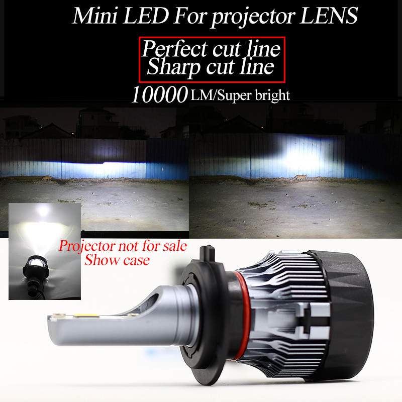 Yamyff H4 Led H7 H11 H8 Car Headlight Bulbs 9005 9006 H1 H3 H9 H27 880 881 Led Lamp Fanless Csp Chips Auto Fog Lights 6000k 12v Sturdy Construction Automobiles & Motorcycles