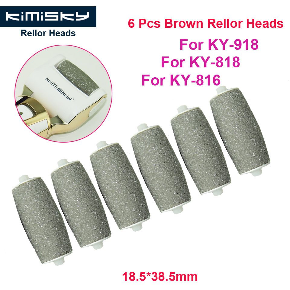 Kimisky Gold Foot care tool roller Heads pedicure herramientas hard roller Heads for 6pcs KY-816/818 Pies Callos Pedicura Feet image