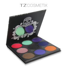 9 Colors Matte Diamond Glitter Foiled Eye Shadow in One Palette Blush Makeup Set for Beauty