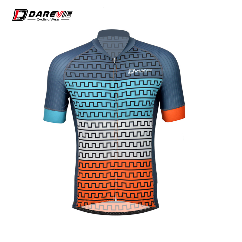 Darevie cycling jersey short sleeves summer bike jersey breathable quick dry men's cycling jersey sahoo 45516 outdoor cycling sunproof polyester sleeves covers black white pair xxl