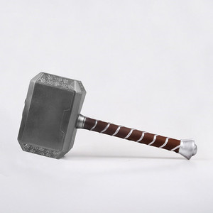 1:1 Thor Thunder Hammer Stormbreaker Weapons Model Figure Thor's Hammer Cosplay Kids Gift Movie Role Playing Safety Toy