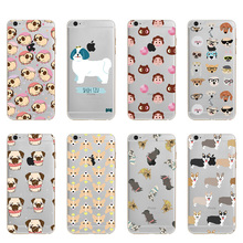 font b 2018 b font new style Lovely Puppy Pug Cartoon Soft TPU Silicone Case