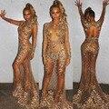Nova Chegada Nu O-pescoço de Celebridades Vestidos Longos Vestidos No Tapete Vermelho com Contas de Cristal Ver Através Do Vestido Da Celebridade