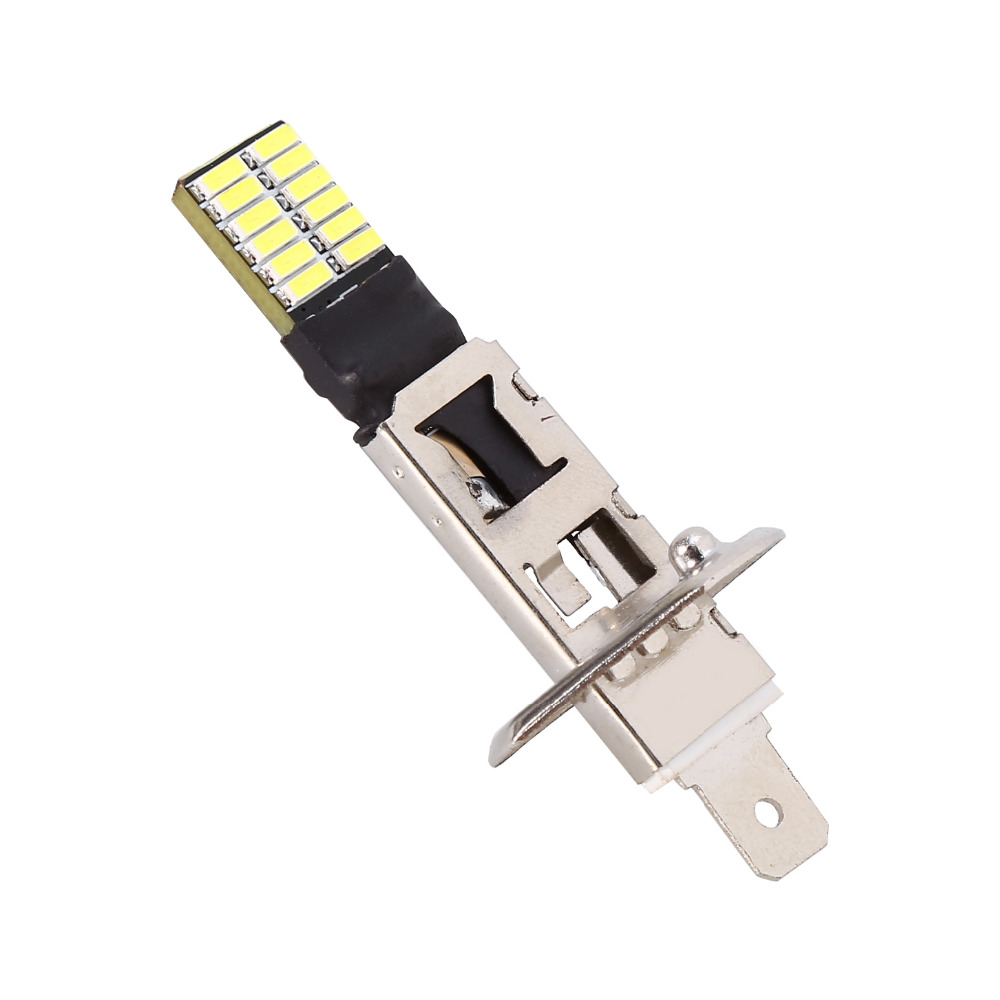 Car Styling 6500K HID Xenon White 24-SMD H1 LED Replacement Light Bulbs Bright For Fog Lights Driving DRL Car Auto