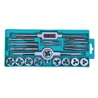20pcs M3 M12 Taps Dies Sets Kits Tap Wrench Die Wrench Carbon Steel Hand Screw Taps