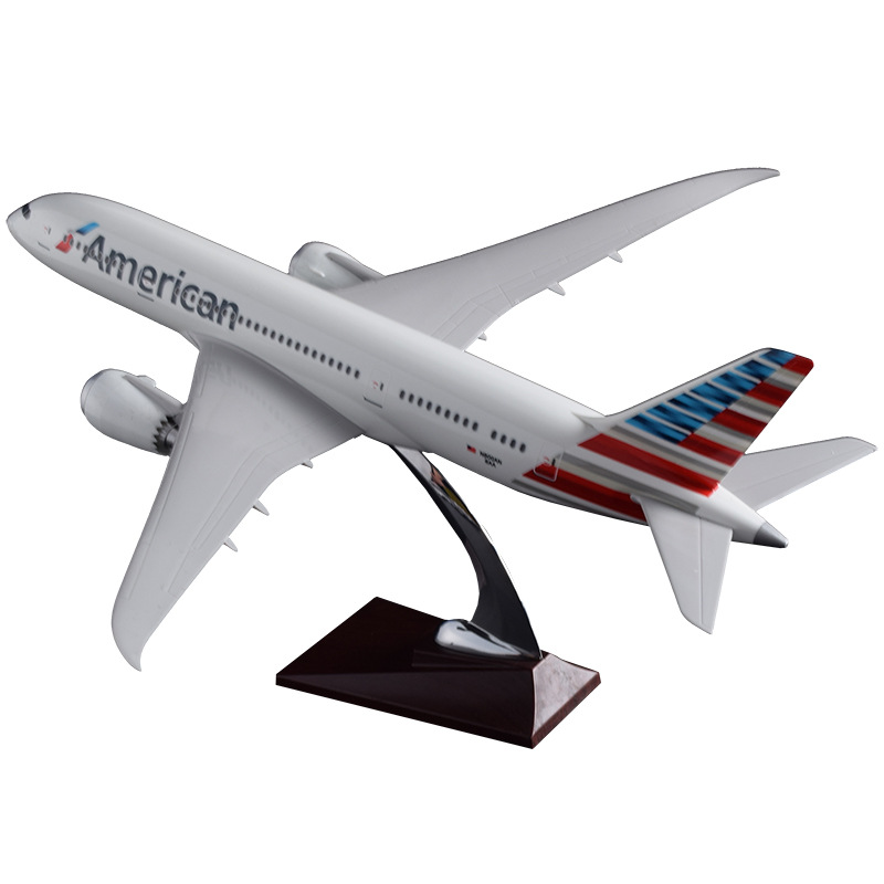 43cm Resin US Boeing 787 Airplane Model American Airlines Airways B787 Airbus Model USA Aviation Aircraft Model Travel Toy Gift new phoenix 11207 b777 300er pk gii 1 400 skyteam aviation indonesia commercial jetliners plane model hobby