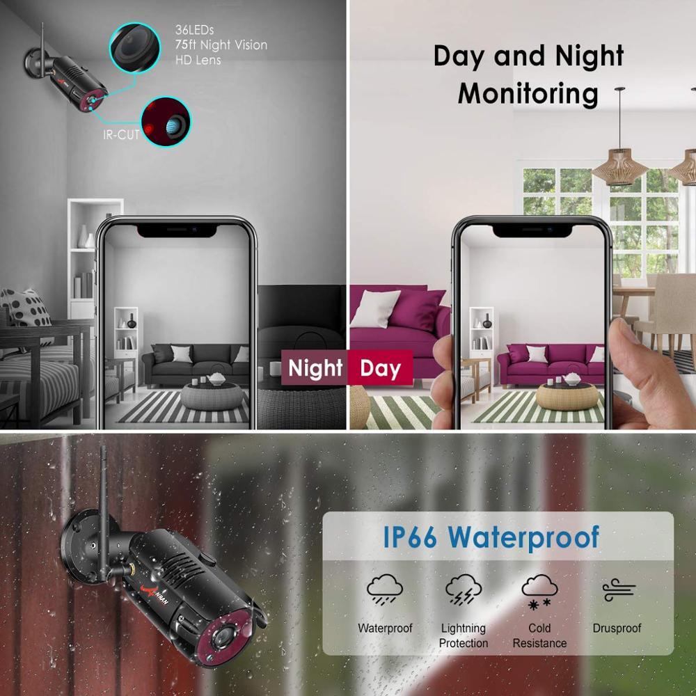 ANRAN 1080P HD IP kamerák vízálló kültéri éjjellátó - Biztonság és védelem - Fénykép 6
