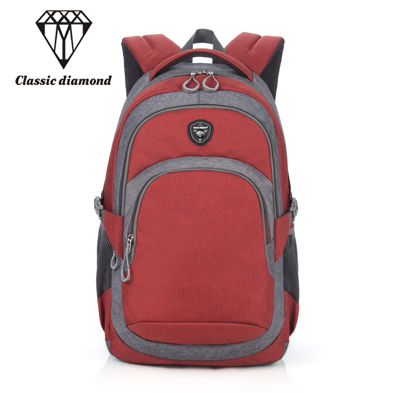 Laptop Backpacks Women Bolsa Mochila For 14-17 Inch Notebook Computer Rucksack Female School Bag Red Backpack For Teenagers Girl kingsons brand waterproof men women laptop backpack 15 6 inch notebook computer bag korean style school backpacks for boys girl
