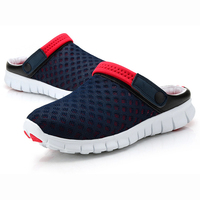 Men's Summer Shoes Sandals 2017 New Breathable Men Slippers Mesh Lighted Casual Shoes Slip On Shoes Beach Flip Flops Sandals