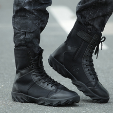 купить 2017 Men Military Tactical Boots Black Combat Outdoor Shoes  Army Hiking Travel Botas  Autumn Ankle Boots Winter Tatico Boots дешево