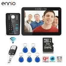 "ENNIO SY906MJIDS11 9"" 900TVL RFID Password Recording Video Door Phone Intercom Rainproof Night Vision Wireless Remote Control"
