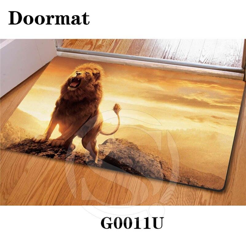 Custom lion DoorMat Art Pattern Printed Carpet Floor Hall Bedroom Cool Pad Fashion Rug Free Shipping SQ0611
