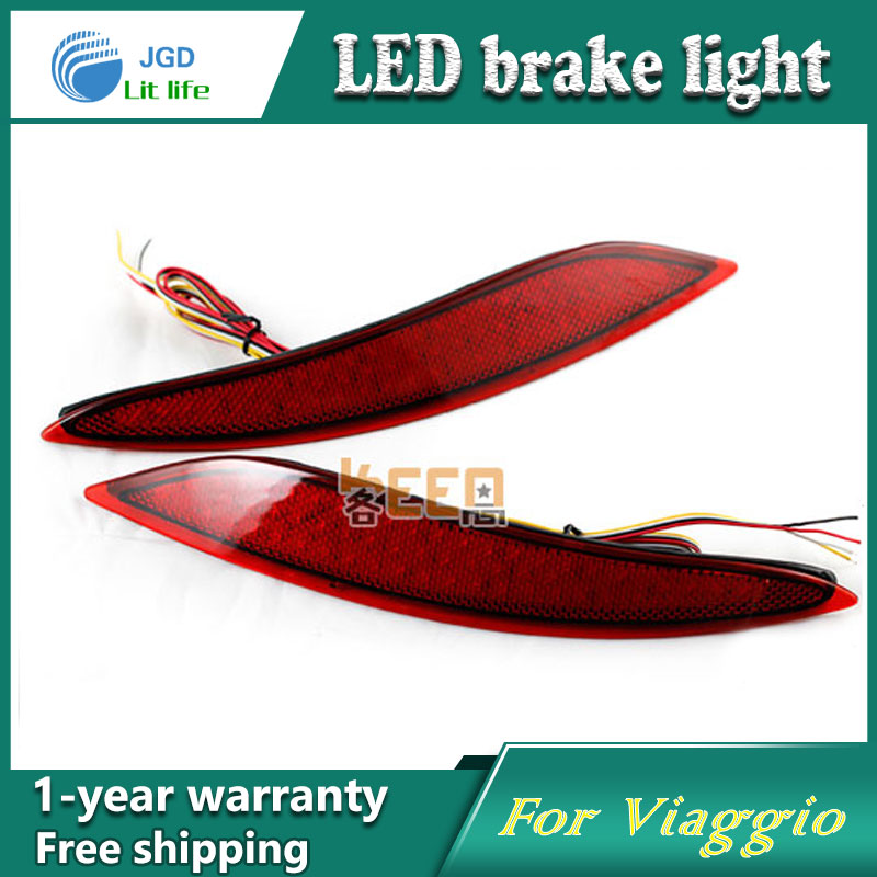 Car Styling Rear Bumper LED Brake Lights Warning Lights case For Fiat Viaggio Accessories Good Quality
