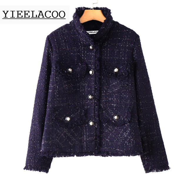 Aliexpress.com : Buy Blue tweed jacket brushed hair autumn ...