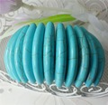 12-40mm blue Turkey turquoise Elastic rope bracelets 7.5'' Charming!  new Fashion High-quality Wholesale and retail